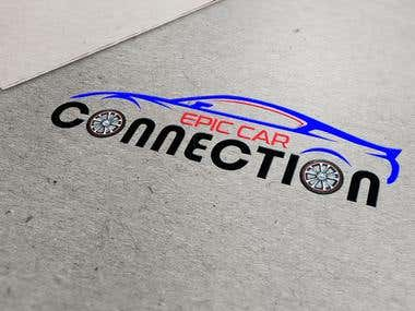 Epic car connection logo in 2d and 3d