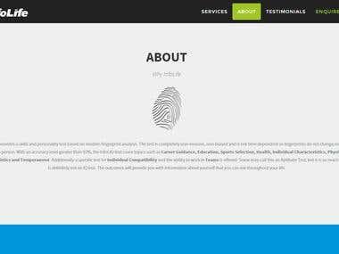 InfoLife - Landing page