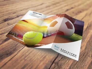 """Tríptico publicidad """"Barcelona Sports Camps"""""""