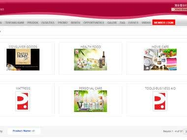 Joomla Virtuemart website