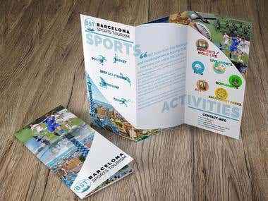 "Tríptico publicidad ""Barcelona Sports Tourism"""