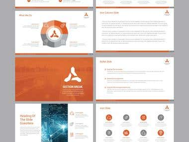 Ppt template for a digital marketing and advertising company