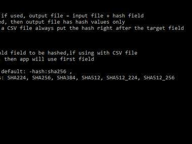 Bulk commandline hash creator