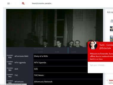 Enter Tale online TV (Laravel)