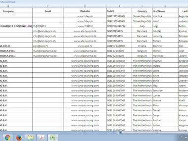 PDF Contacts to Excel