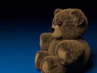 Rendered Teddy bear