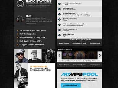 An mp3 music website for professional Disc Jockey's
