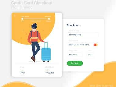Credit Card Checkout UI Design