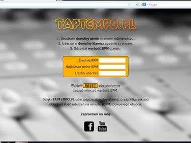 My webpage www.taptempo.pl
