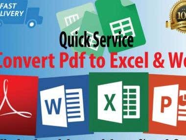 Convert Images Or Pdf Files To Word Or Excel