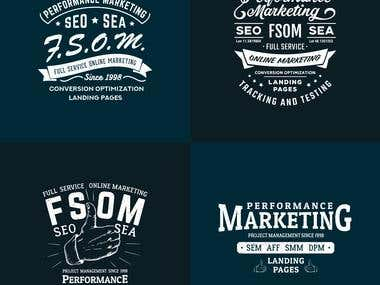 T-shirts typography design