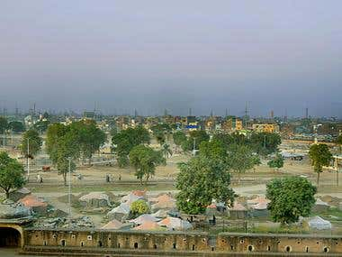 Old Lahore with eagle eye