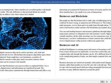 Businesses and Blockchain