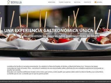 Diseño y maquetación web para Sevilla Ambassadors