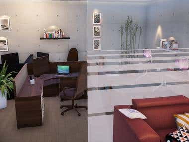 Interior design of a small office