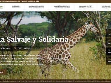 Diseño y maquetación web Tu Camino Solidario