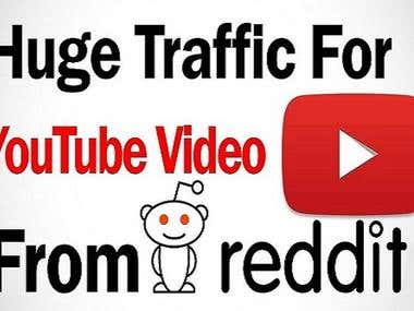 Traffic for YouTube Video (Construction Channel) from Reddit