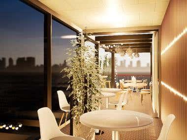 Container restaurant ( Interior design )