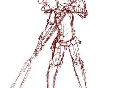 Alisha Diphda Quick Sketch (Fanart)