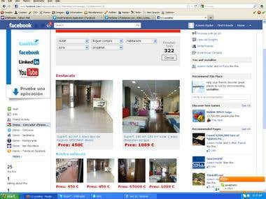facebook property listing application for fanpage