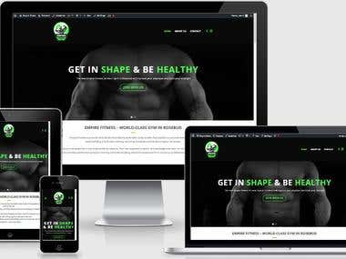 Empire Fitness Website