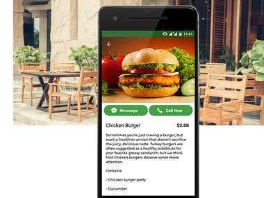Restaurant App for single restaurant based on Backend