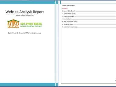 SEO Audit of Atlasshed.co.uk - Report Screenshot