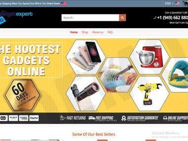 Gadget Shopify SIte