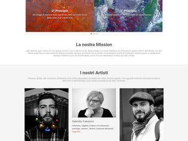 "Art Collective ""Spazio Bianco"" Website"
