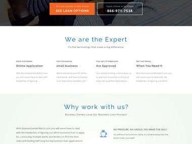 Business lender match website design