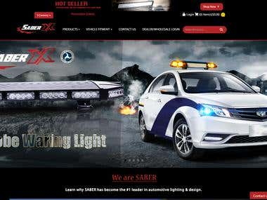 Car lighting sales store website.