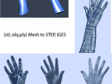 Mesh to STEP, IGES