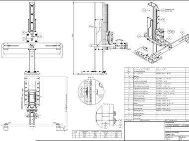 Construction of a pallet dispenser