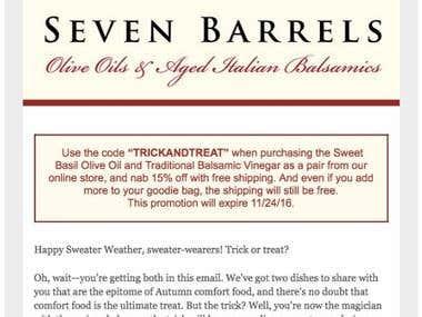 Seven Barrels Email Newsletters