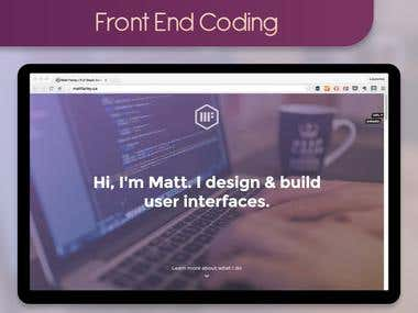 Front End Coding