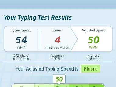 Fluent Typing Speed on TypingTest.com (19 May 2018)