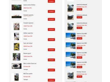 Multivendor listing / advertising website with CodeIgniter