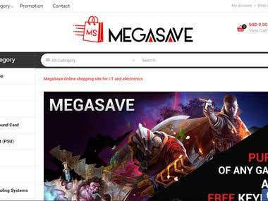 MEGASAVE E-Commence Website