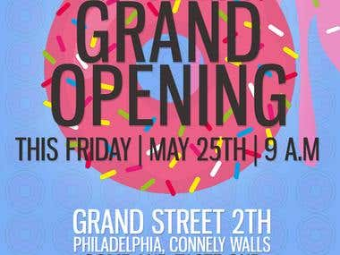 Dany's Donuts Grand Opening FLYER