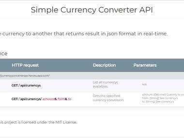 WebApi - Conversor de Divisas en Línea