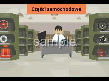 Animated explainer advertisement