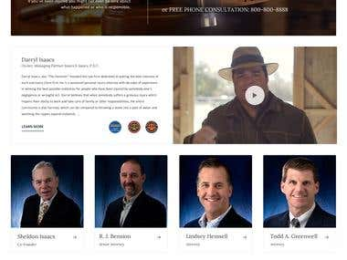 Isaacs & Isaacs law firm website