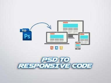PSD TO HTML RESPONSIVE WEBSITE