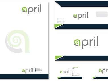 stationery design or letter hand