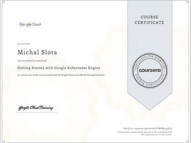 GCP - Kubernetes engine course certificate