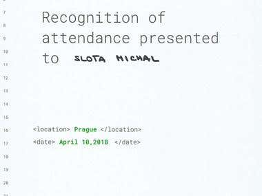 Google Cloud On Board recognition of attendance