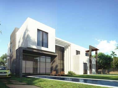 3D Exterior Visualization | Villas