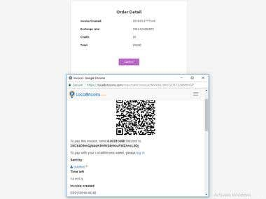 Bitcoin Payment Integration