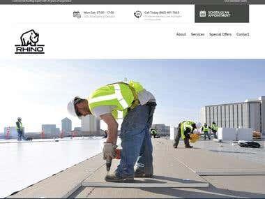 Service website (www.rhinocommercialroofing.com)
