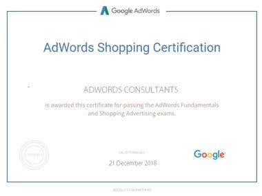 Shopping Ads Certification From Google